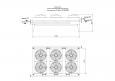 Охладитель водно-гликолевый(двухконтурный)  для двигателя Cuascur SFGM560